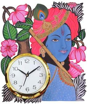 Shiva Arts Mdf with melamine Analog Wall clock ( Set of 1 )