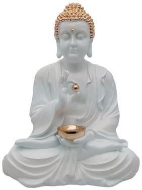 Krishnagallery1 Gautam Budh Statue -White
