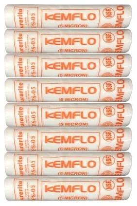 KRPLUS 10x2.5 Spun Filter Candle 5 Micron (80 Grams) - Pack of 8