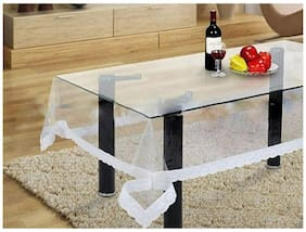 Kuber Industries Pvc Transparent Center Table Cover