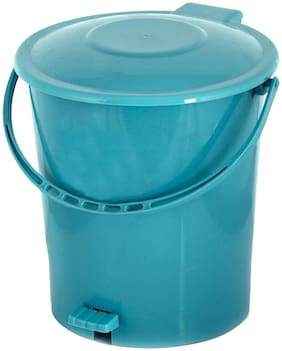 Kuber Industries Plastic Dustbin Garbage Bin with Handle;10 L (Green) - CTHH16365