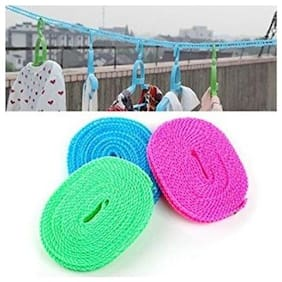Kudos 5 m Clothes Drying Laundry Rope Anti-Rust Wire Rope Washing Line