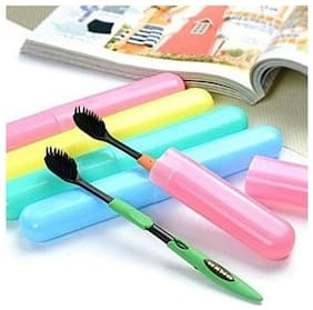 kudos  5pcs Translucent Colorful Plastic Toothbrush Tube Cover Cases, toothbrush holder (5pieces,Assorted)