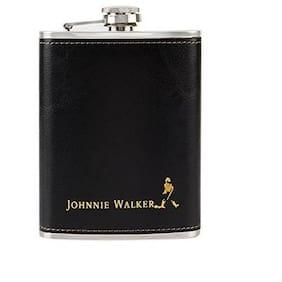 kudos 255.14 g (9 oz) Black Stainless Steel Hip Flask Leather Pocket Bottle