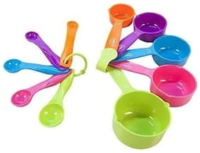 kudos Cooking and Baking Measurement Measuring Cups And Spoons Set Of 10 pcs