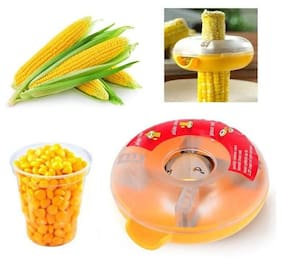 Kudos  Corn Remover Kitchen Tool With Steel Blades Corn Peeler Corn Remover