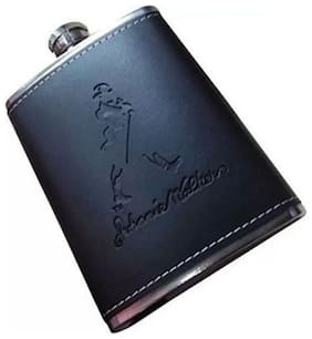 kudos Leather And Stainless Steel Hip Flask 198.44 g (7 Oz)