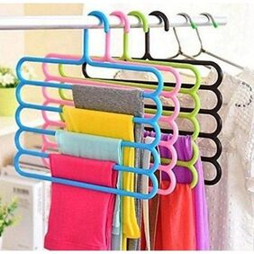 Kudos Multipurpose Hanger For Shirts,Ties,Pants Space Saving hanger, Cupboard Organizer, Strong (Assorted Color)