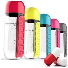 K Kudos Enterprise 600 ml Plastic Assorted Water Bottles - Set of 1
