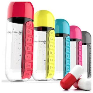 K Kudos Enterprise Plastic Assorted Water Bottle ( 600 ml , Set of 1 )