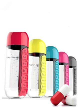 Kudos Pill & Vitamin Organizer Water Bottle