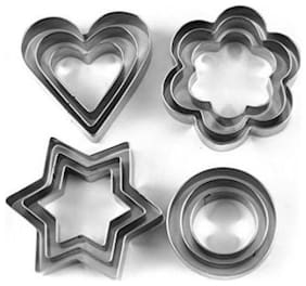 kudos  Stainless Steel Biscuits Bread Cookies decoration Cutter With 4 Shape 12 Pieces