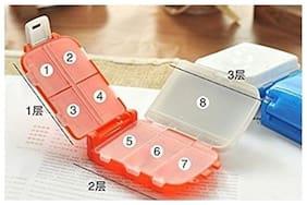 Kudos Travel 8 Compartment Pill Box Medicine Tablet Holder Organizer