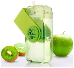K Kudos Enterprise Glass Assorted Water Bottle ( 430 ml , Set of 1 )
