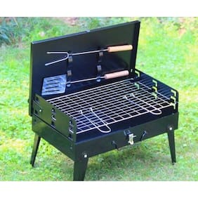 Kumaka Charcoal Briefcase Style Portable Folding Barbecue Grill Box