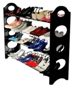 La Mod Shoe Rack Plastic (Black)