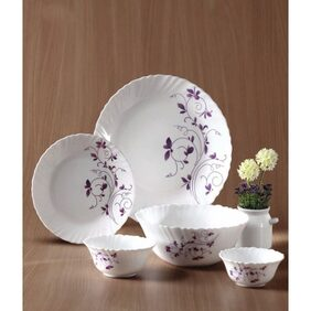 La Opala Diva 19 Pcs Dazzle Purple Dinner Set