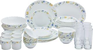 La Opala Diva Twilght Bouqet 27 pcs Including Dinner Set +3 pcs Bowl+6 Glass+ 6pcs Coffee Mug