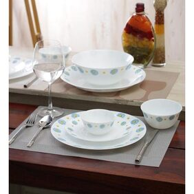 La Opala Diva Saphire Charm Ceramic Dinner Sets - Set Of 27