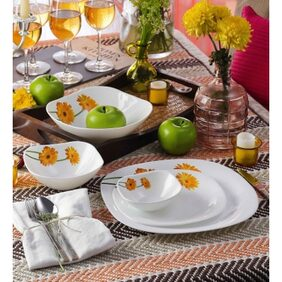 La Opala Quadra 29 Pcs Sunshine Dinner Set