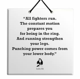 Laila Ali Famous Quote Best Wall Hanging TILE Plaque Home Decoration Gift Sign