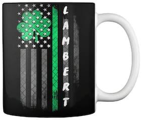 Lambert Lucky Family Clover Flag Gift Coffee Mug