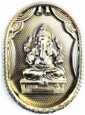 Laps of Luxury - Ganesha God Idol Shining Golden color wall hanging Photo Frame(33.02 cm (13 inch)x24.13 cm (9.5 inch))
