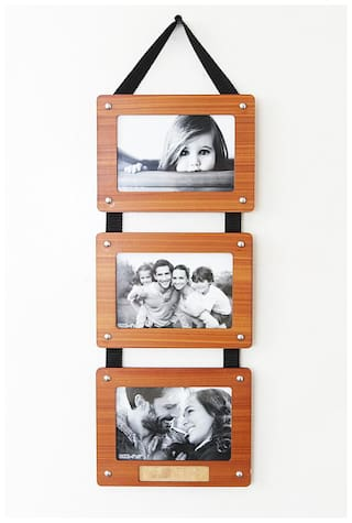 Laps of Luxury Wood Brown Collage picture frame ( Set of 1 )