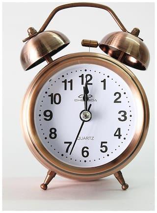 Laps of Luxury Metal Analog Alarm clock ( Set of 1 )