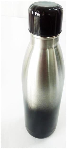 Laps of Luxury Stainless Steel Black Water Bottle ( 900 ml , Set of 1 )