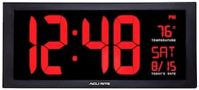 Large Digital Clock w/ Indoor Temperature LED Wall Clock w/ Date Fold-Out Stand