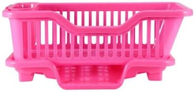 Large Sink Dish Rack Organizer With Tray Plastic Kitchen Rack  (Multicolor) 1Pc