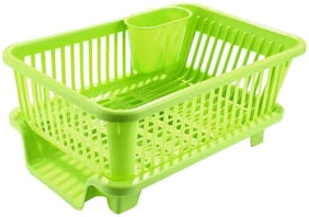 Large Sink Dish Drainer Set Cutlery Dish Holder Basket Chopsticks Spoon Organizer Tray Kitchen Organizer 45 X 24 X 14 cm (Assorted color)