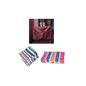 LatestHomeStore Attractive Combo of Fridge Top Cover 6 Hand Towel and 6 face Towel