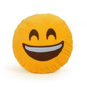 Cortina Laughing Smiley Pillow-001