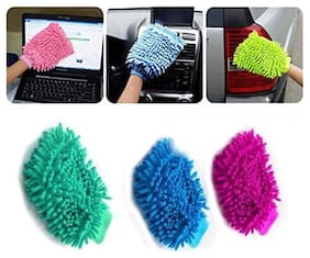 Laura Microfiber Cleaning Gloves Set Of 3 pc