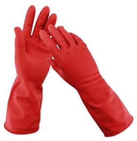 Lavimo Rubber Gloves With Wash Scrubber Non-Slip Magic Gloves For Household Cleaning Great For Protecting Hands In Dishwashing Car Washing