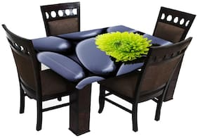 Laying Style Printed Velvet 4 Seater Center Table Cover - Milticolor