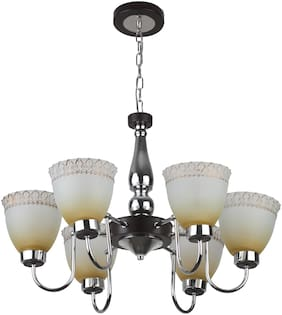 LeArc Designer Lighting Contemprory Glass Metal Wood Chandelier CH370