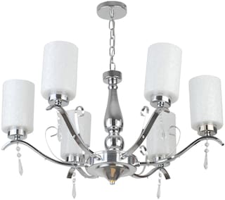 LeArc Designer Lighting Contemprory Glass Metal Wood Chandelier CH367