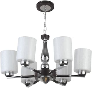 LeArc Designer Lighting Contemprory Glass Metal Wood Chandelier CH364