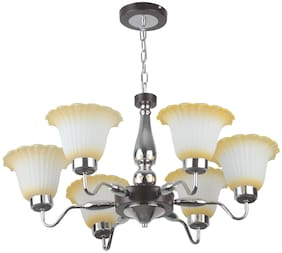 LeArc Designer Lighting Contemprory Glass Metal Wood Chandelier CH365