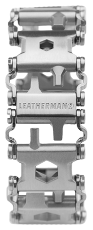 Leatherman The world first wearable multi-tool the travel-friendly Tread features 29 tools and customizable Tread (Silver)