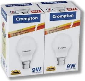 Crompton 9 W B22 LED Bulb, Cool Day Light (Pack of 2)