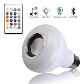 Led Bulb With Bluetooth Speaker Music Light Bulb B22 Led White + Rgb Light Ball Bulb Colorful Lamp With Remote Control For Home