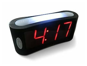 LED Digital Alarm Clock Outlet Powered No Frills Simple Operation For Home