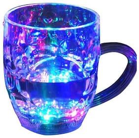 LED Flash Cup Water Inductive Color Changing Beer Whisky Glass Mug Bar Club Party Drinkware (295 ml)