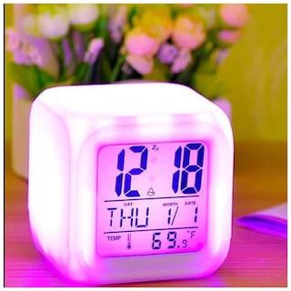 SADAR BAZAAR Plastic Analog Table clock ( Set of 1 )