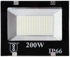 LED World 200 Watt Ultra Thin Slim Ip66 LED Flood Outdoor Light Cool White Waterproof- 200W;Pack of 1