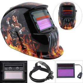 Left Wheel Beauty Adjust Solar Auto Darkening TIG MIG Grinding Welding Helmets / Face Mask / Electric Welding Mask / Weld Cap